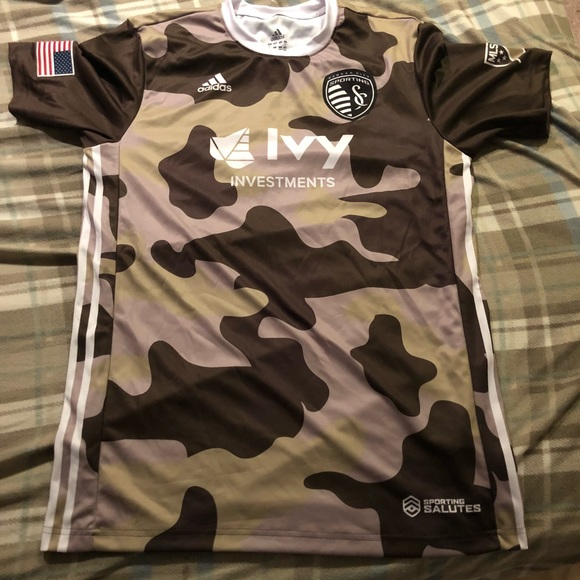 new style fdbe4 8b532 Sporting KC military edition jersey